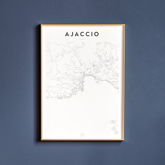 Ajaccio, France map poster