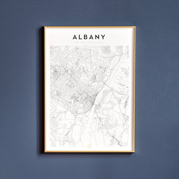 Albany, New York map poster