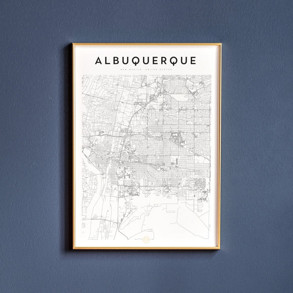 Albuquerque, New Mexico map poster