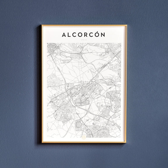 Alcorcón, Spain map poster