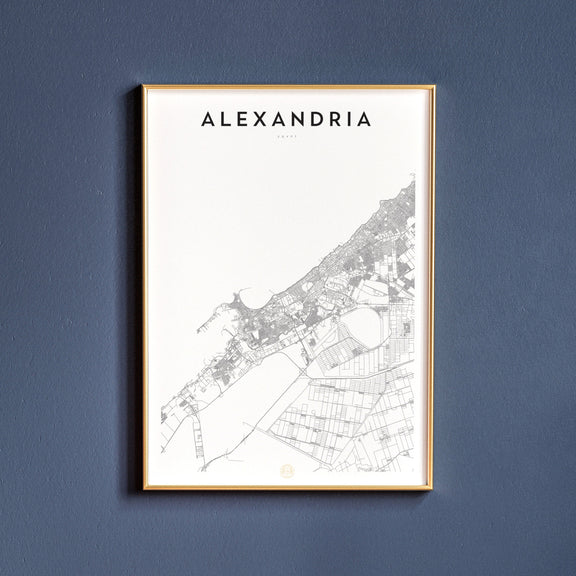 Alexandria, Egypt map poster