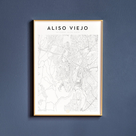 Aliso Viejo, California map poster