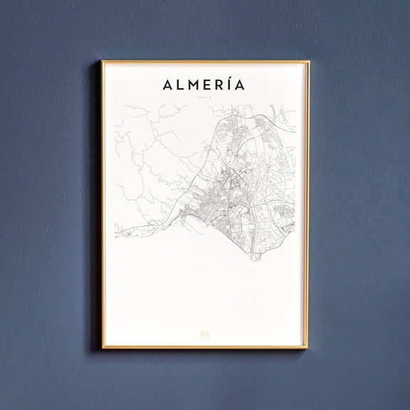 Almería, Spain map poster