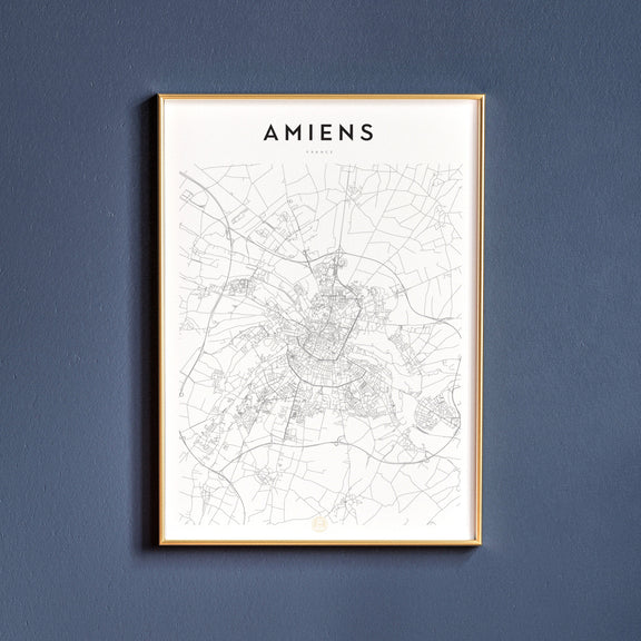 Amiens, France map poster