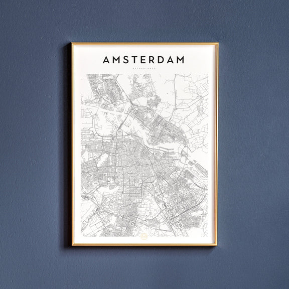 Amsterdam, Netherlands map poster