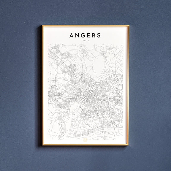 Angers, France map poster
