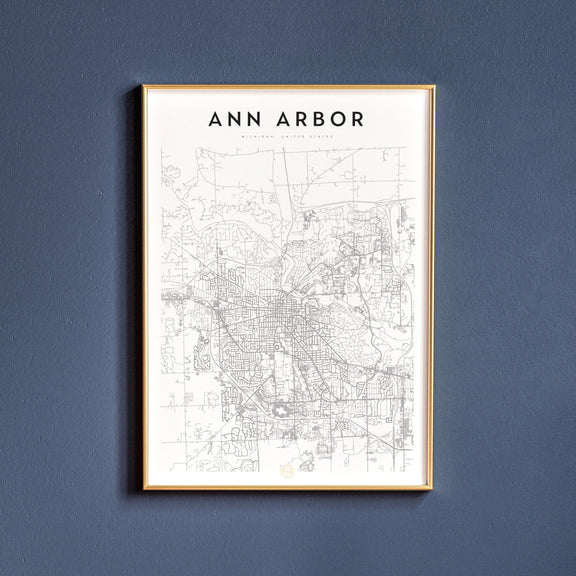 Ann Arbor, Michigan map poster
