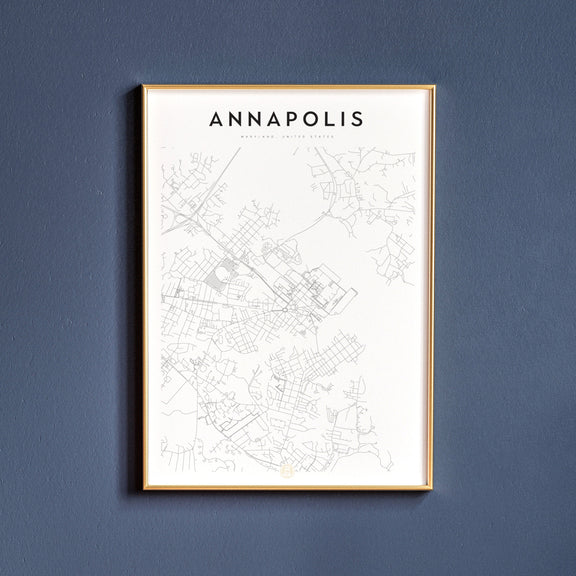 Annapolis, Maryland map poster