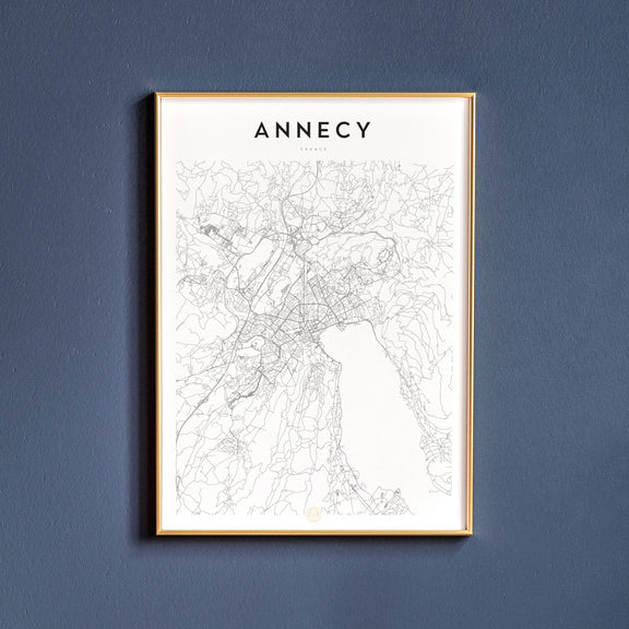 Annecy, France map poster