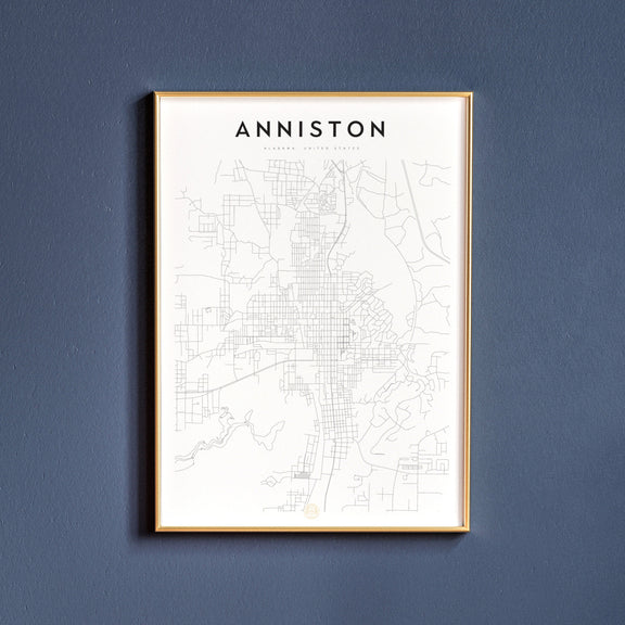 Anniston, Alabama map poster
