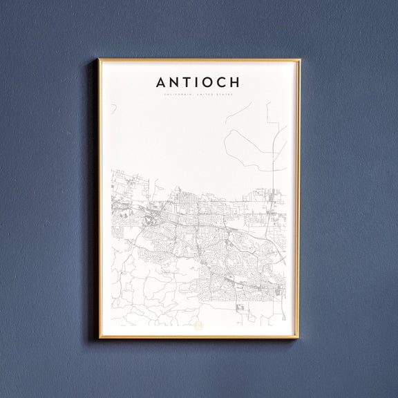 Antioch, California map poster