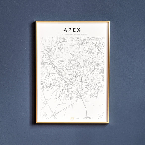Apex, North Carolina map poster