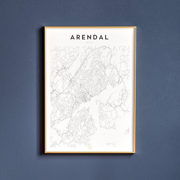 Arendal, Norway map poster