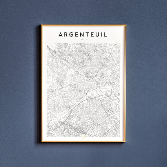 Argenteuil, France map poster