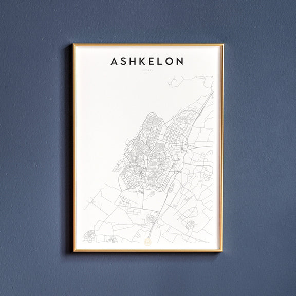 Ashkelon, Israel map poster