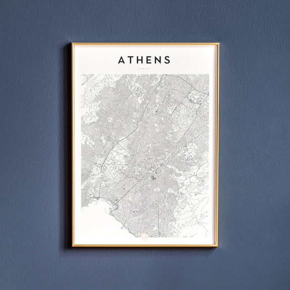 Athens, Greece map poster