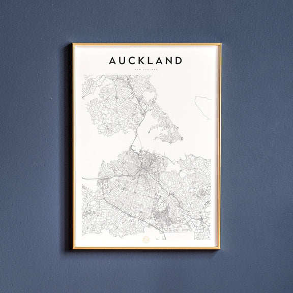 Auckland, New Zealand map poster