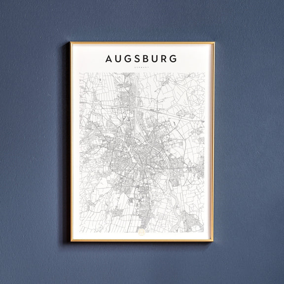 Augsburg, Germany map poster