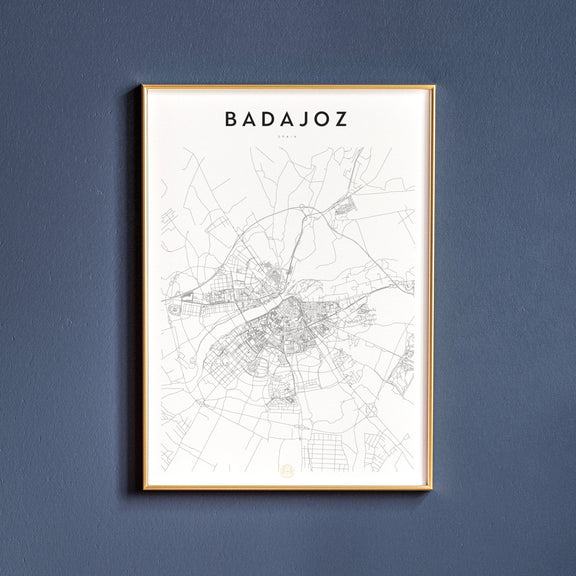 Badajoz, Spain map poster