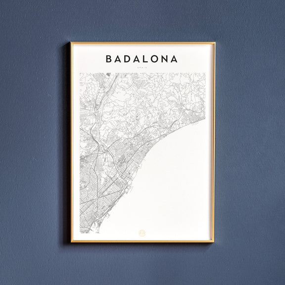Badalona, Spain map poster