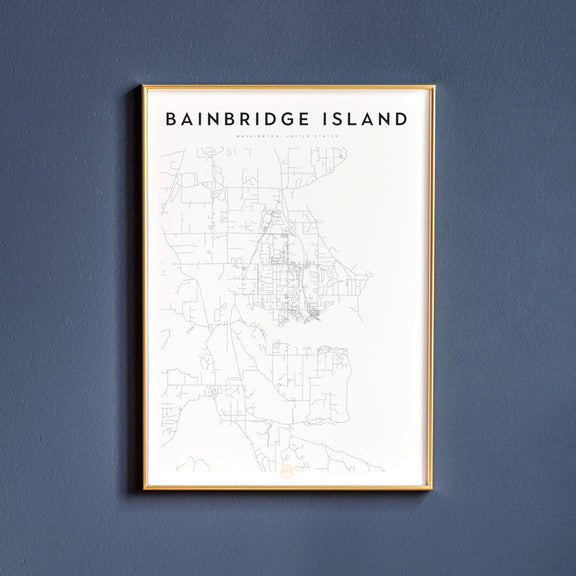 Bainbridge Island, Washington map poster