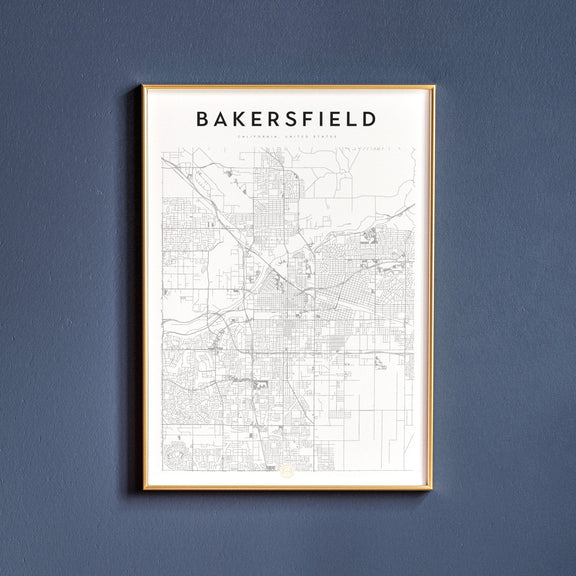 Bakersfield, California map poster