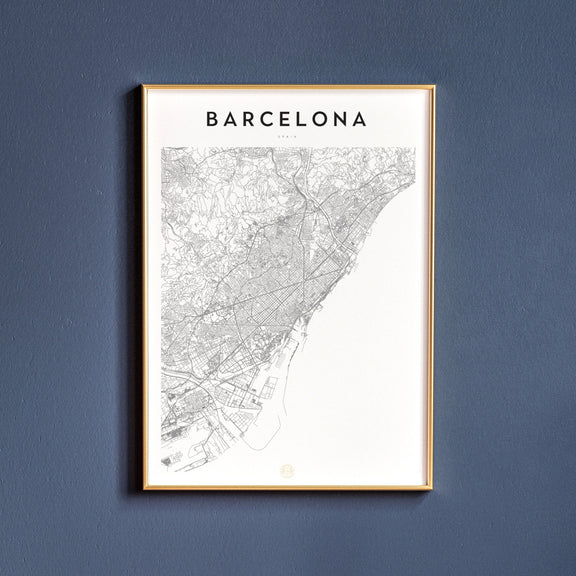 Barcelona, Spain map poster