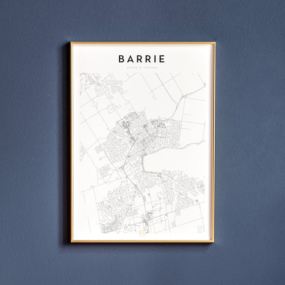 Barrie, Ontario map poster