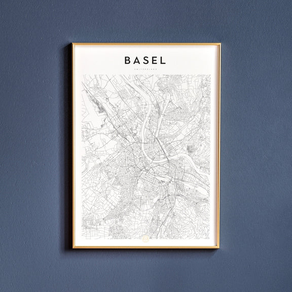 Basel, Switzerland map poster
