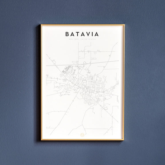 Batavia, New York map poster