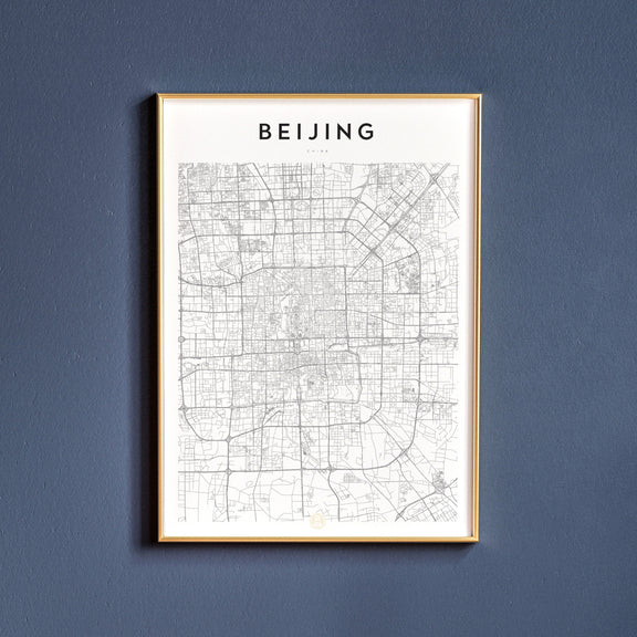 Beijing, China map poster