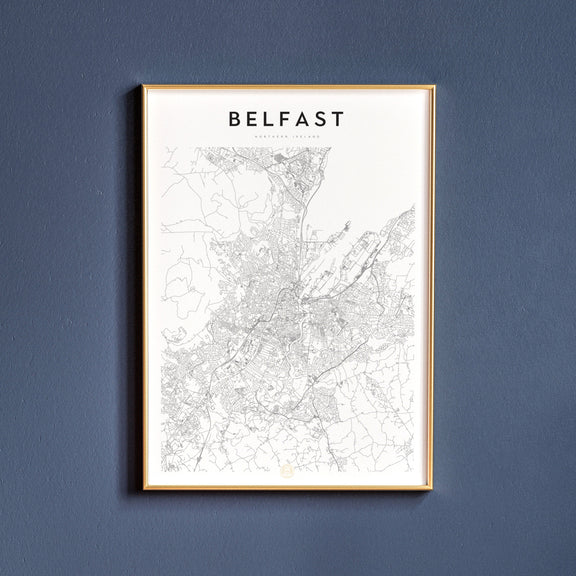 Belfast, Northern Ireland map poster