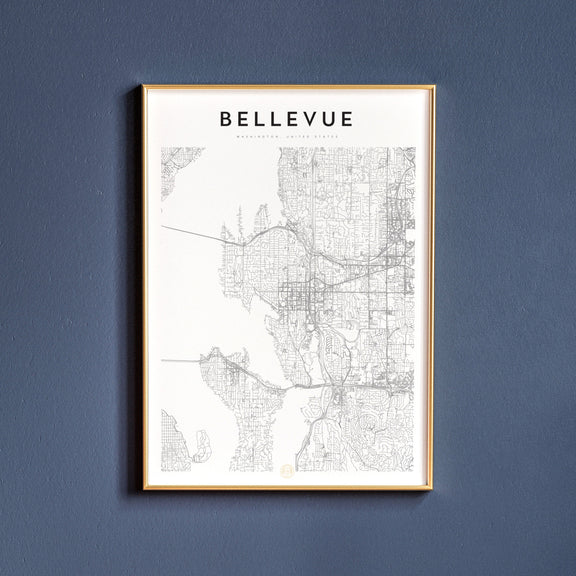 Bellevue, Washington map poster