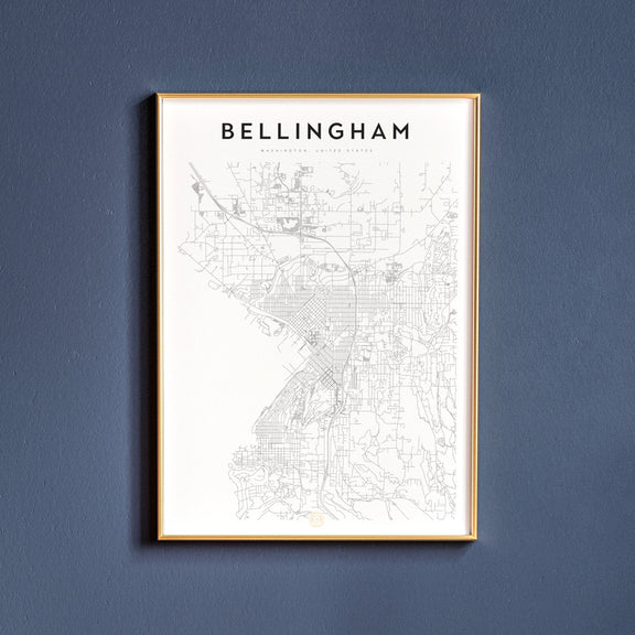 Bellingham, Washington map poster