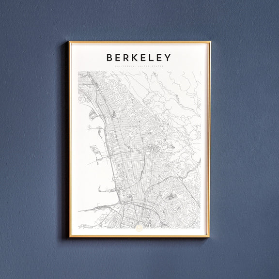 Berkeley, California map poster