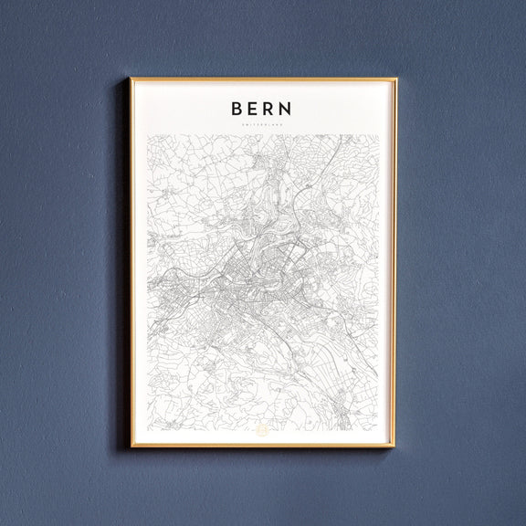 Bern, Switzerland map poster