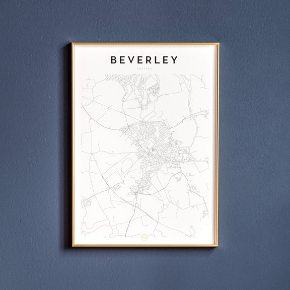 Beverley, England map poster