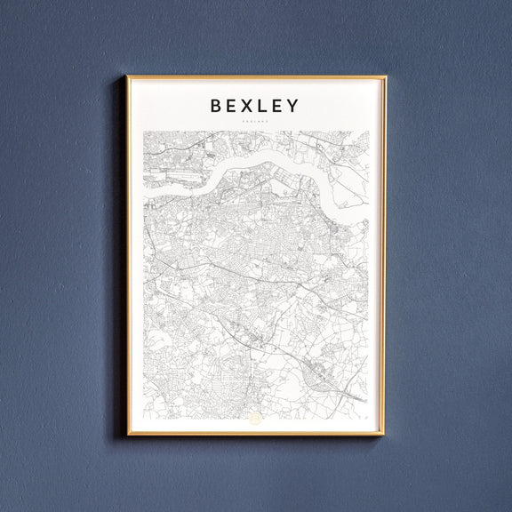 Bexley, England map poster