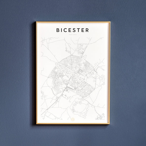 Bicester, England map poster