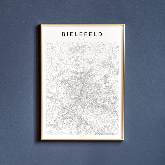 Bielefeld, Germany map poster