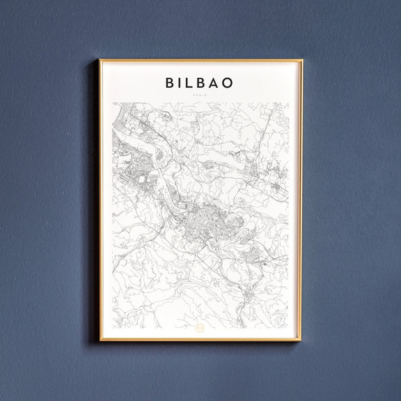 Bilbao, Spain map poster