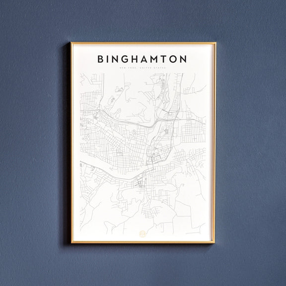 Binghamton, New York map poster