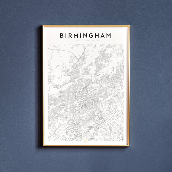 Birmingham, Alabama map poster