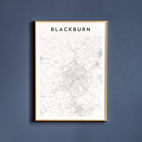 Blackburn, England map poster