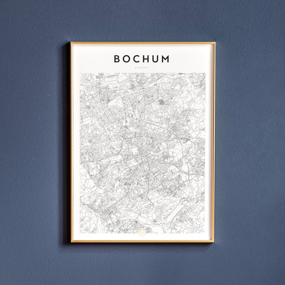 Bochum, Germany map poster