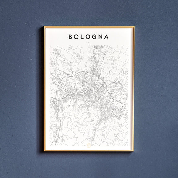 Bologna, Italy map poster