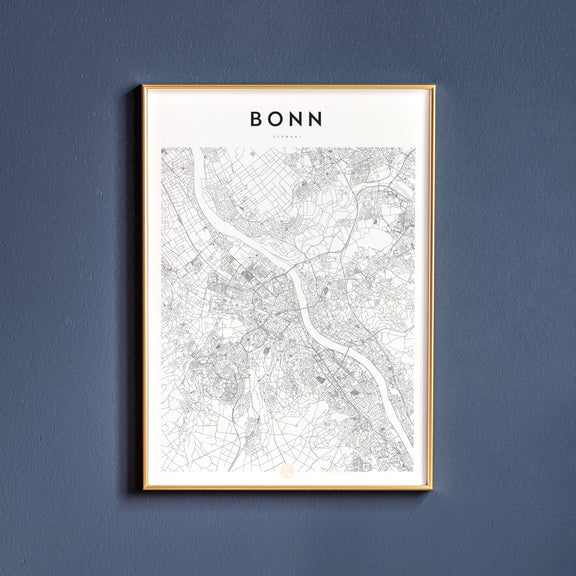 Bonn, Germany map poster