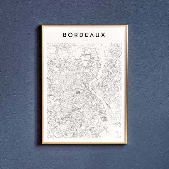 Bordeaux, France map poster