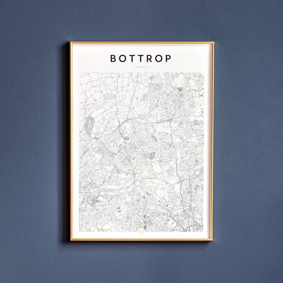 Bottrop, Germany map poster