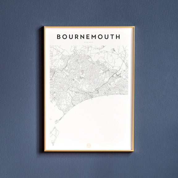 Bournemouth, England map poster